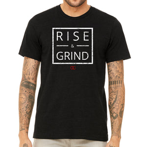 RISE & GRIND Black Tshirt BLACK FRIDAY DEAL! Up to size 2XL!