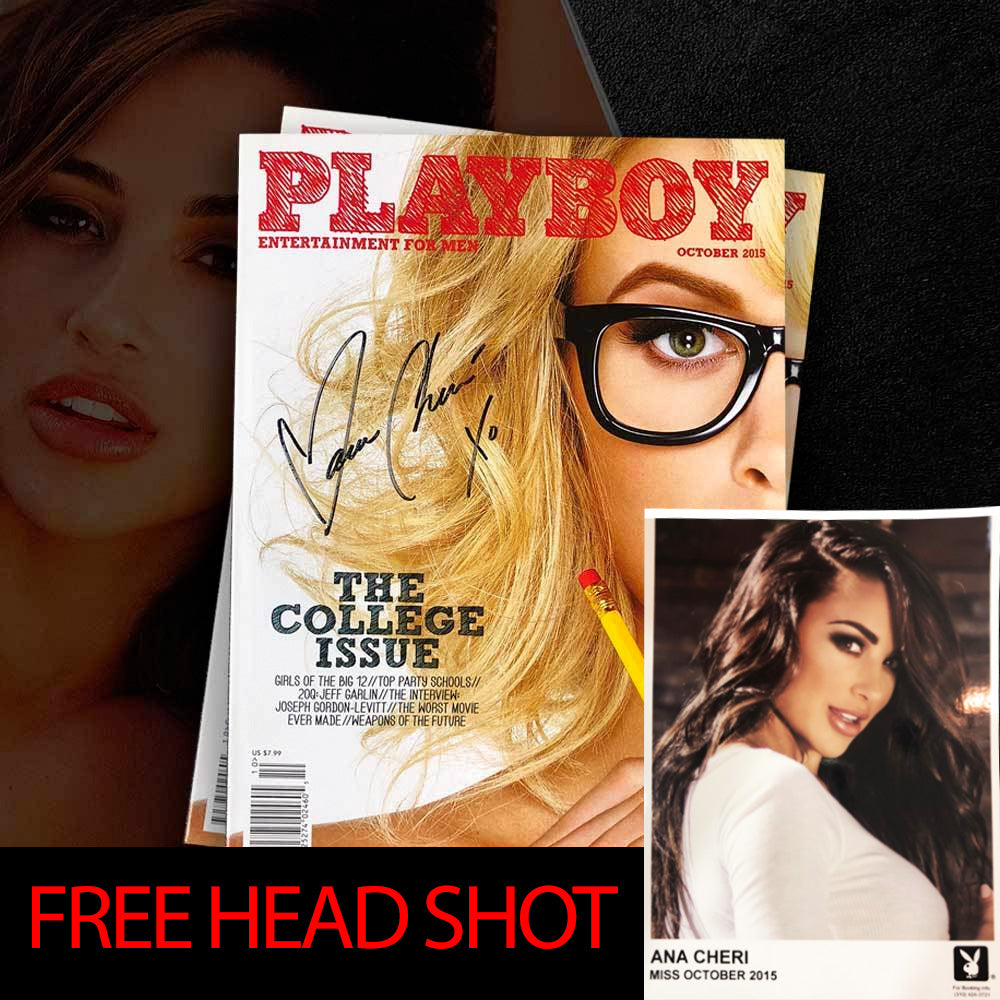 Limited Edition Autographed Playboy + FREE Headshot Bundle