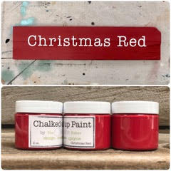 Creative Sister Chalked Up Paint - Christmas Red- 2 oz.