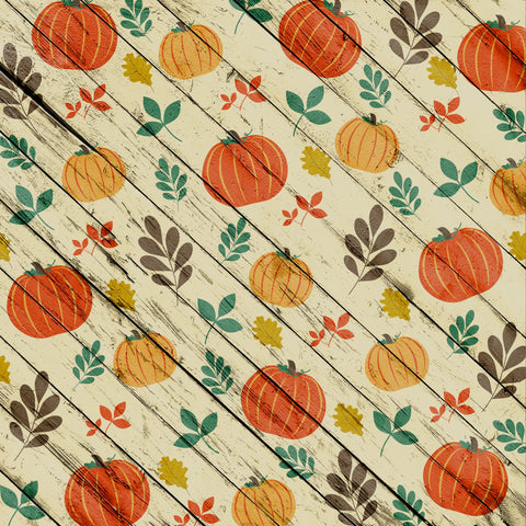 Fall White Washed Pumpkin Patterned HTV 12x12