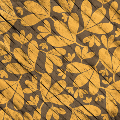 Fall Wood Brown Leaves Patterned HTV 12x12
