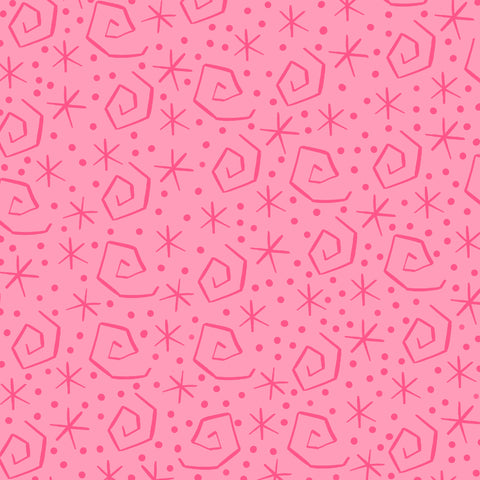 Spin Me Round Pink Patterned Adhesive Vinyl 12x12
