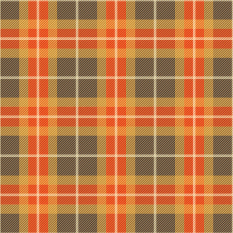 Fall Brown Plaid Patterned Adhesive Vinyl 12x12