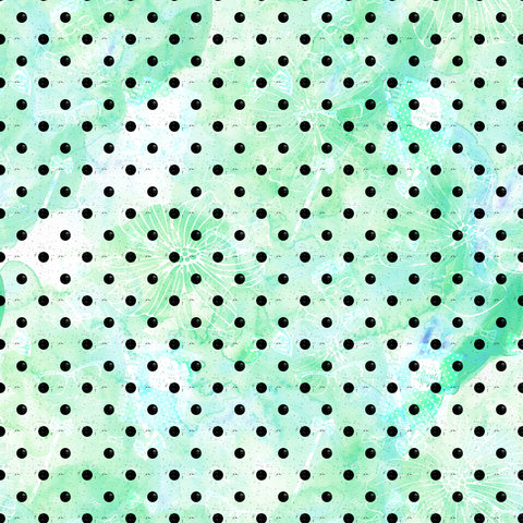 Mint Dots Patterned Adhesive Vinyl 12x12