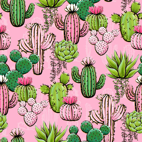 Cactus Patterned Adhesive Vinyl 12x12