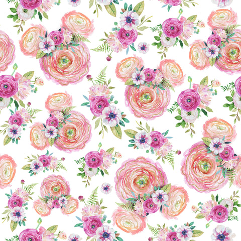 Hidden Roses Patterned Adhesive Vinyl 12x12