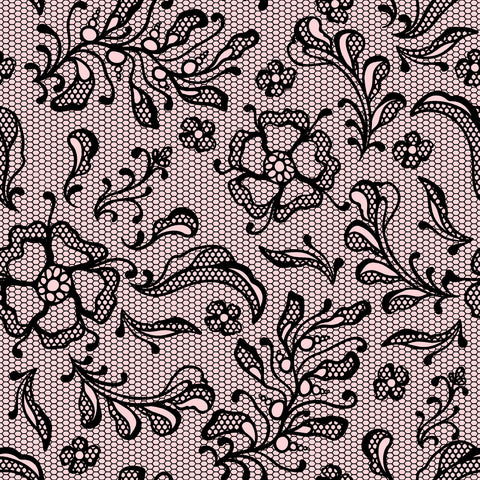 Lace Floral Patterned HTV 12x12