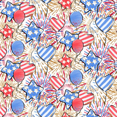 4th of July Patterned Adhesive Vinyl 12x12