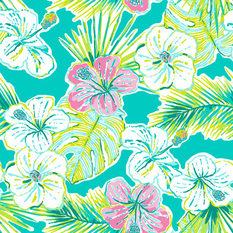 Aloha Hello Patterned Adhesive Vinyl 12x12