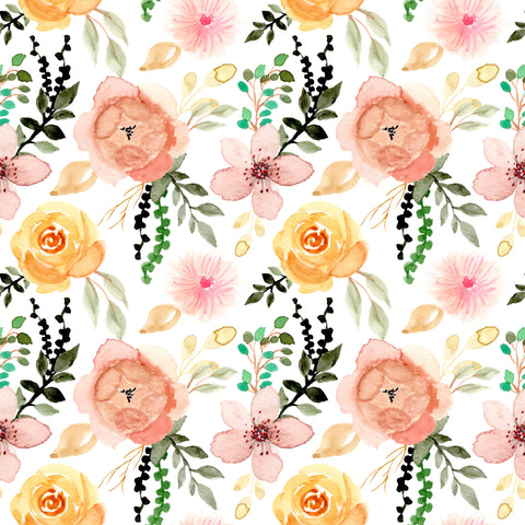 Sunset Flowers Patterned Adhesive Vinyl 12x12