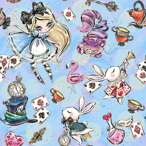 Mad Hatter's Tea Party Patterned Adhesive Vinyl 12x12
