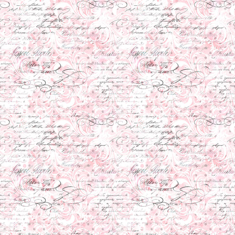 Paris Love Letter Patterned Adhesive Vinyl 12x12
