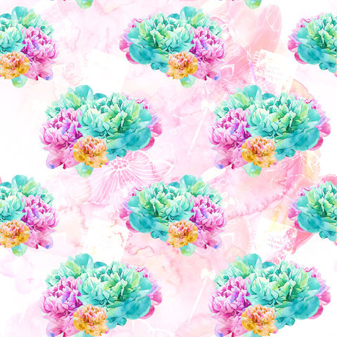 Succulents Love Patterned Adhesive Vinyl 12x12