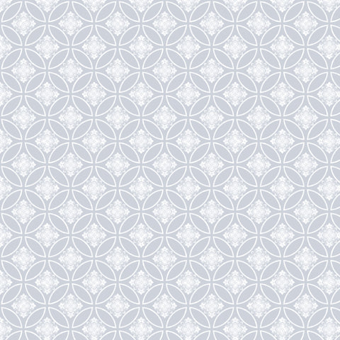 Light Blue Stencil Patterned Adhesive Vinyl 12x12