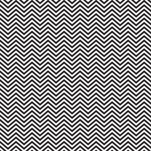 Black and White Chevron Patterned Adhesive Vinyl 12x12