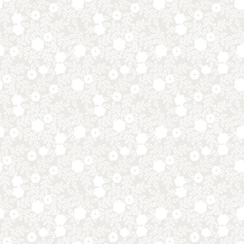 Small Grey Flowers Patterned Adhesive Vinyl 12x12