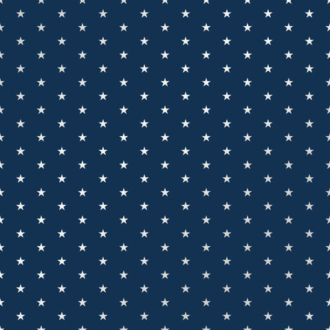 Navy Stars Patterned Adhesive Vinyl 12x12