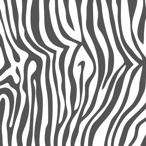 Grey Zebra Patterned Adhesive Vinyl 12x12