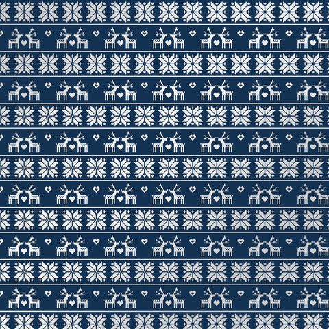 Cozy Christmas Navy Sweater Patterned Adhesive Vinyl 12x12