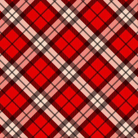 Cozy Christmas Plaid Patterned HTV 12x12