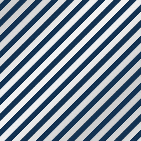 Navy Medium Diagonal Stripes Patterned HTV 12x12