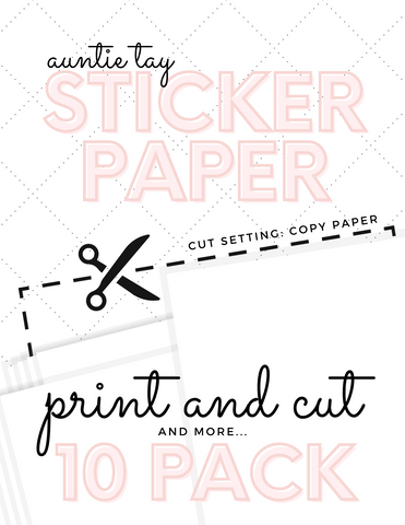 Printable Sticker Paper 10 Pack