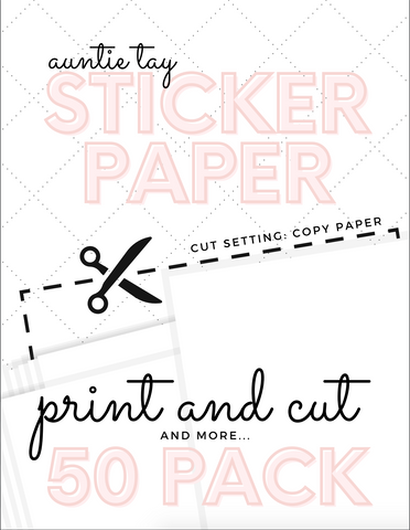 Printable Sticker Paper 50 Pack