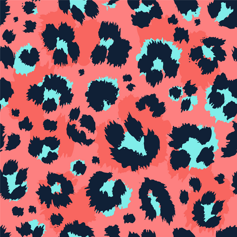 Hot Pink Cheetah Patterned Adhesive Vinyl 12x12