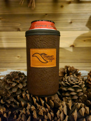 Bison Leather 16oz Tall boy/ 16oz Energy Drink Koozie