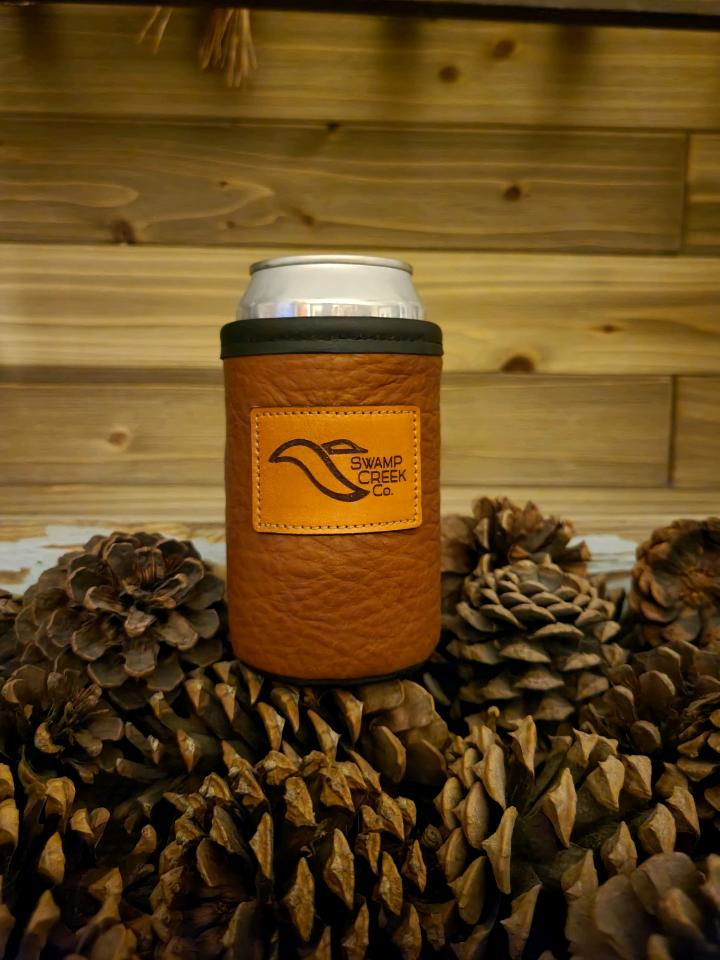 Bison Leather Coors koozie