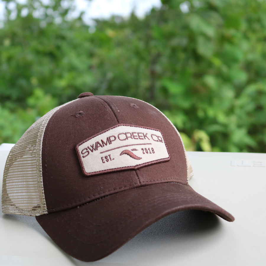 Brown and Tan Trucker Hat - Swamp Creek Co.