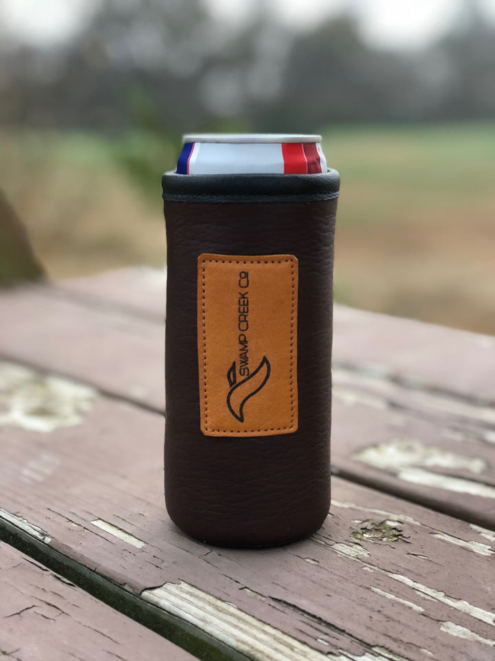Bison Leather Ultra Can Koozie