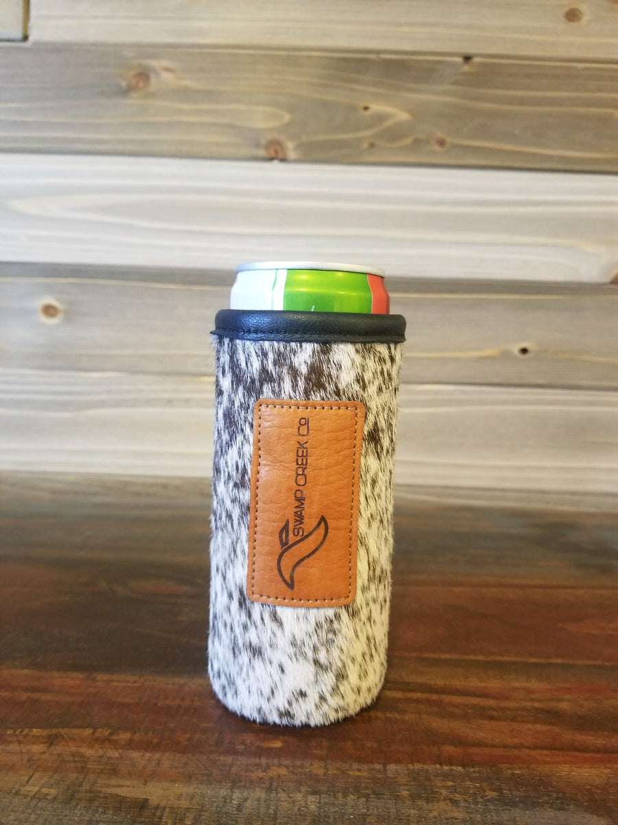 Cow Hide Leather Ultra Can Koozie