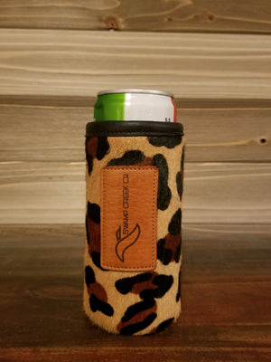 Leopard Leather Ultra Can Koozie