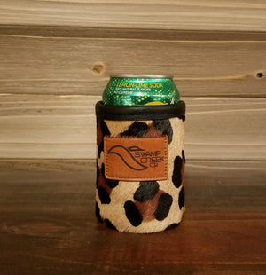 Leopard Leather Can Koozie