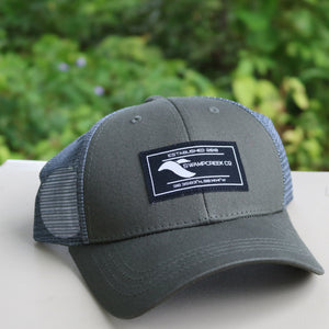 Olive Green Trucker Hat - Swamp Creek Co.