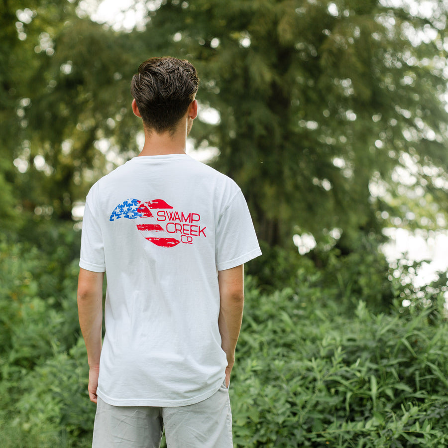 White USA Shirt - Swamp Creek Co.