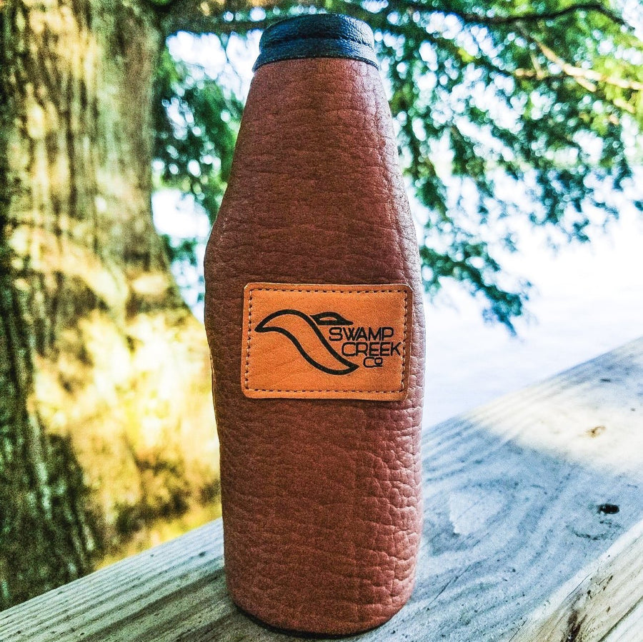 Bison Leather Bottle Koozie