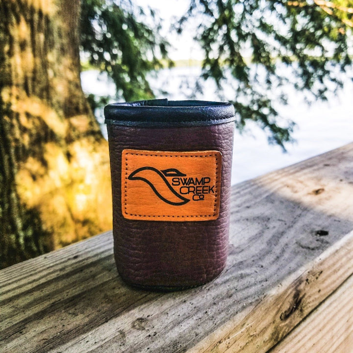 Bison Leather Can Koozie