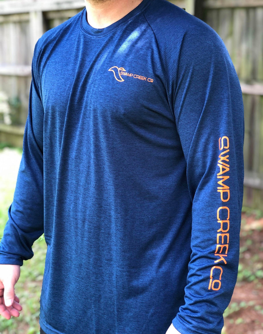 DEEP SEA BLUE WITH ORANGE LOGO