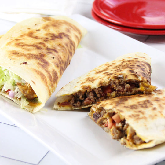 LOADED-UP HAMBURGER QUESADILLA