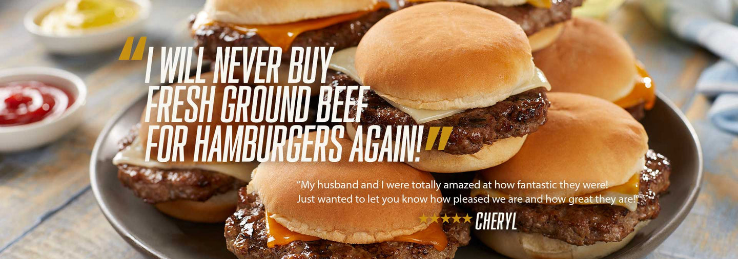 I will never buy fresh ground beef for hamburgers again