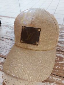 Up-cycled Gold Glitter Cap