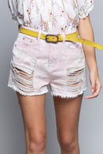 Pink Cloud Distressed Shorts