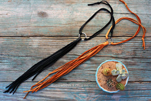 Annie Oakley Leather Choker-Poor House Ranch