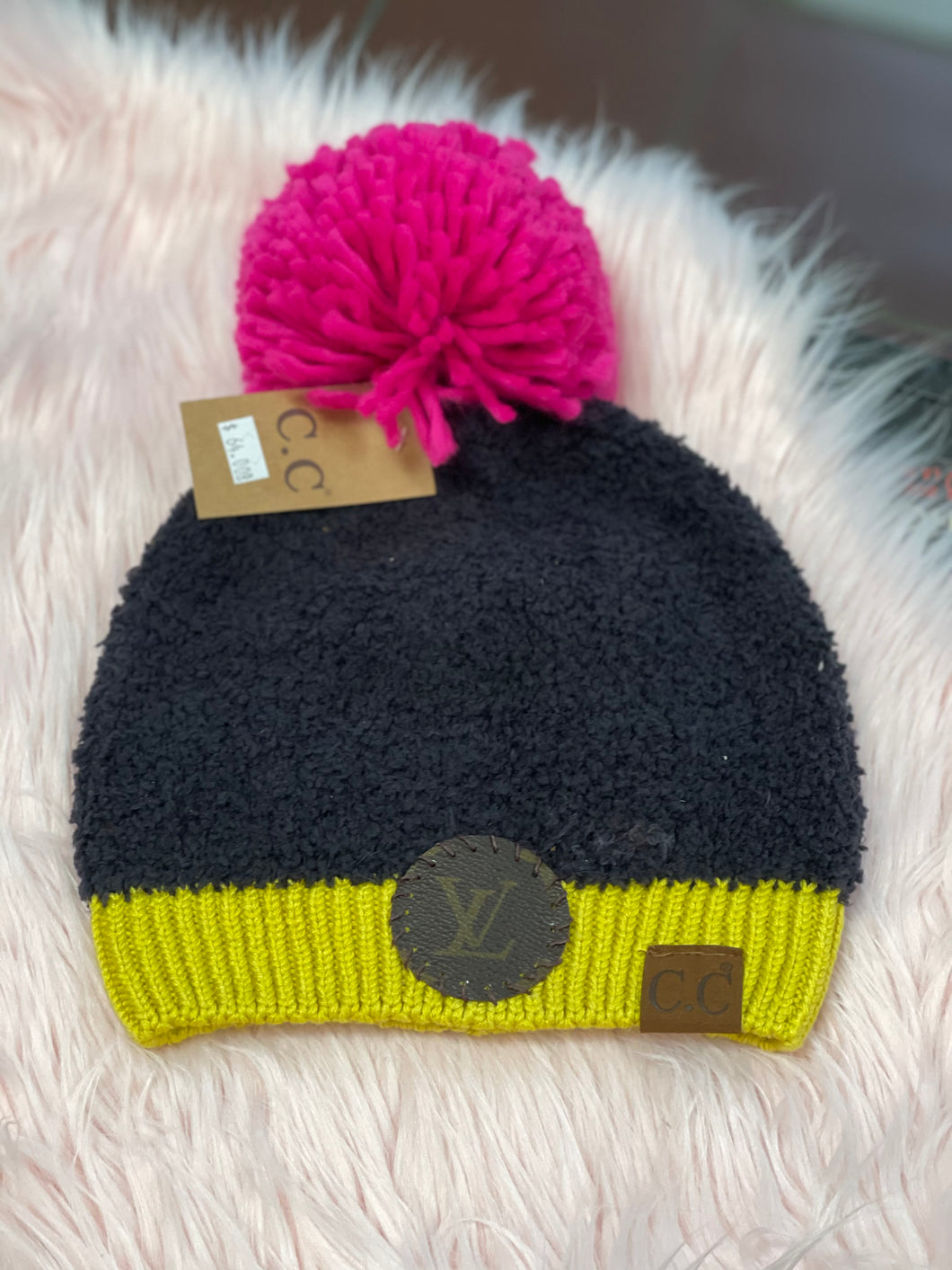 Upcycled LV Beanie