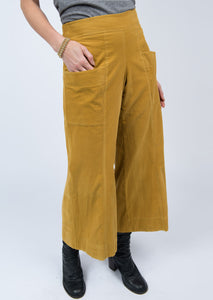 """Walkin' Away"" Mustard Corduroy Pants"