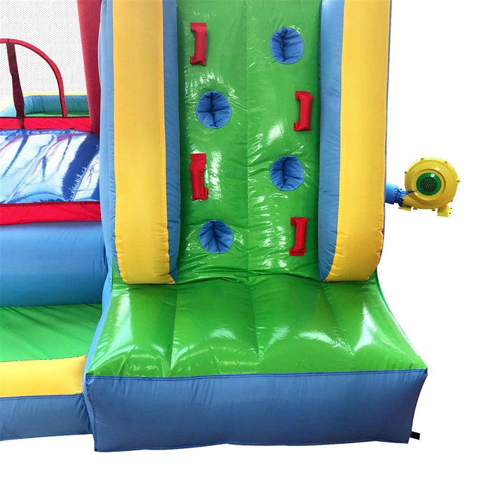 Inflatable Playtime 6-In-1 Bounce House with Slide, Splash Pool, and Ball Pit