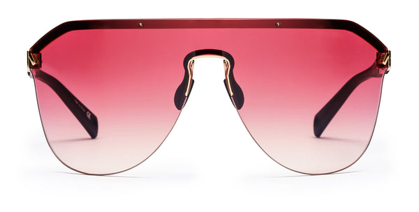Westward Leaning Pink Vibe 01 sport glasses front with a white background