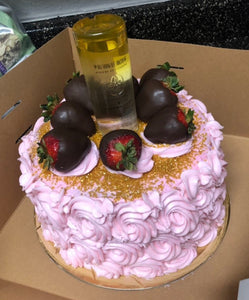 Miraculous Pineapple Ciroc And Rosettes Alcohol Cake Krazy Kravingz Funny Birthday Cards Online Alyptdamsfinfo